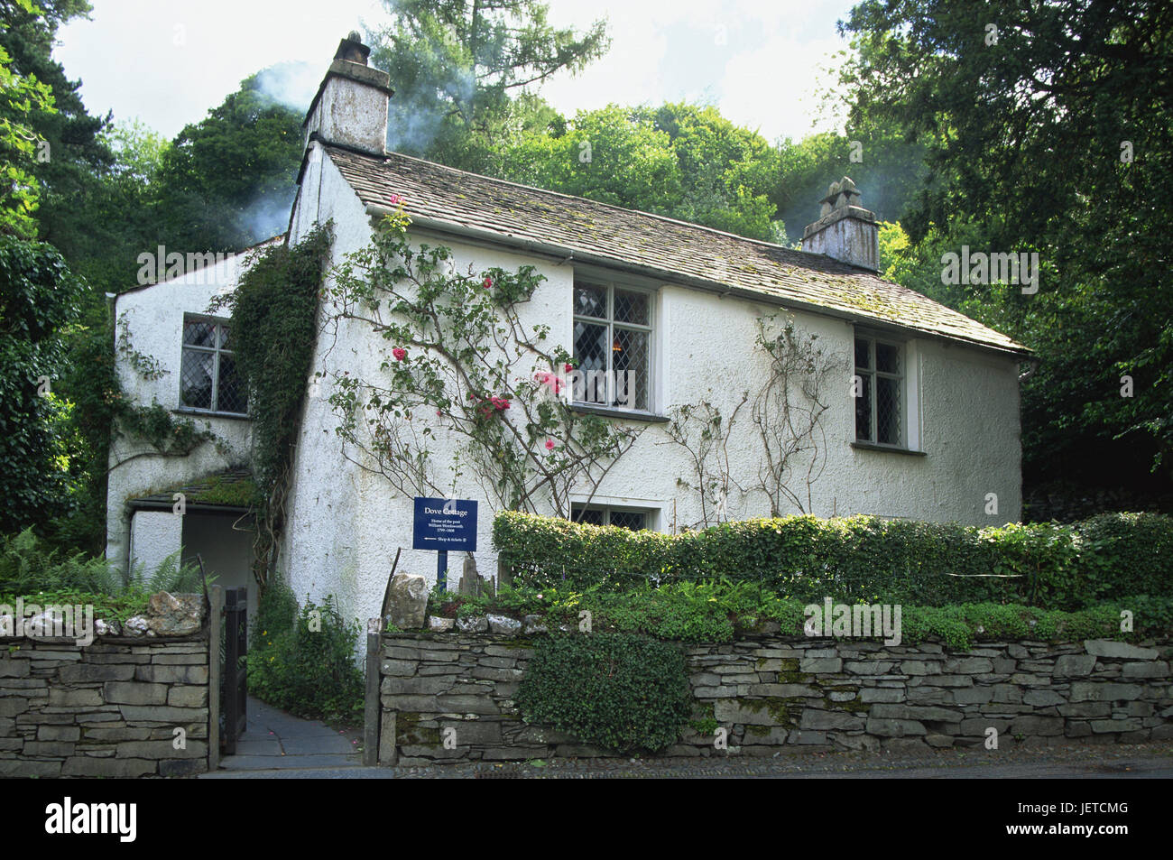 Great Britain, England, Cumbria, brine District, Grasmere, Dove Cottage, Wordsworth's House, Europe, destination, - Stock Image