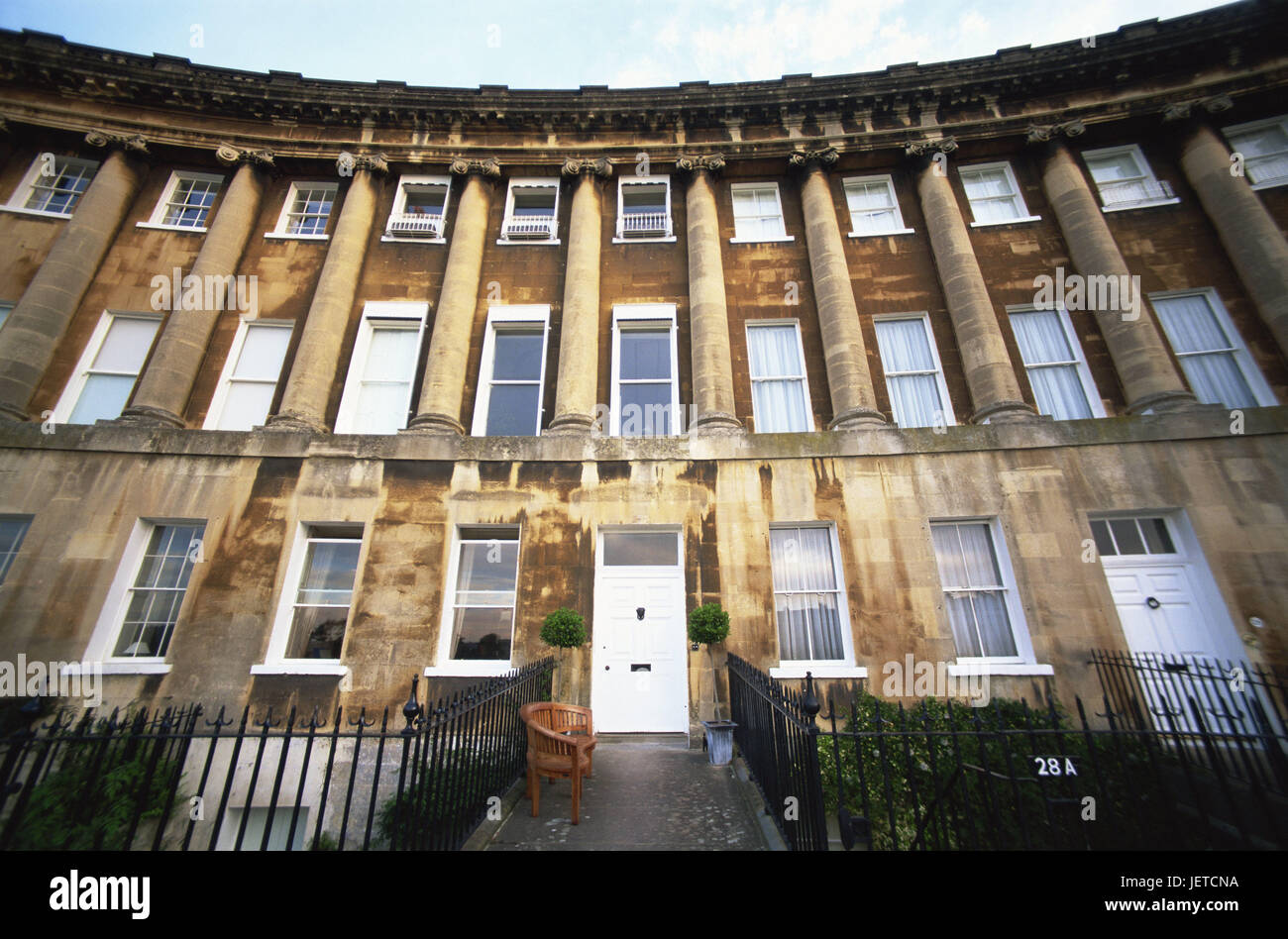 Great Britain, England, Somerset, Bath, royal Crescent, detail, entrance, Europe, destination, place of interest, - Stock Image