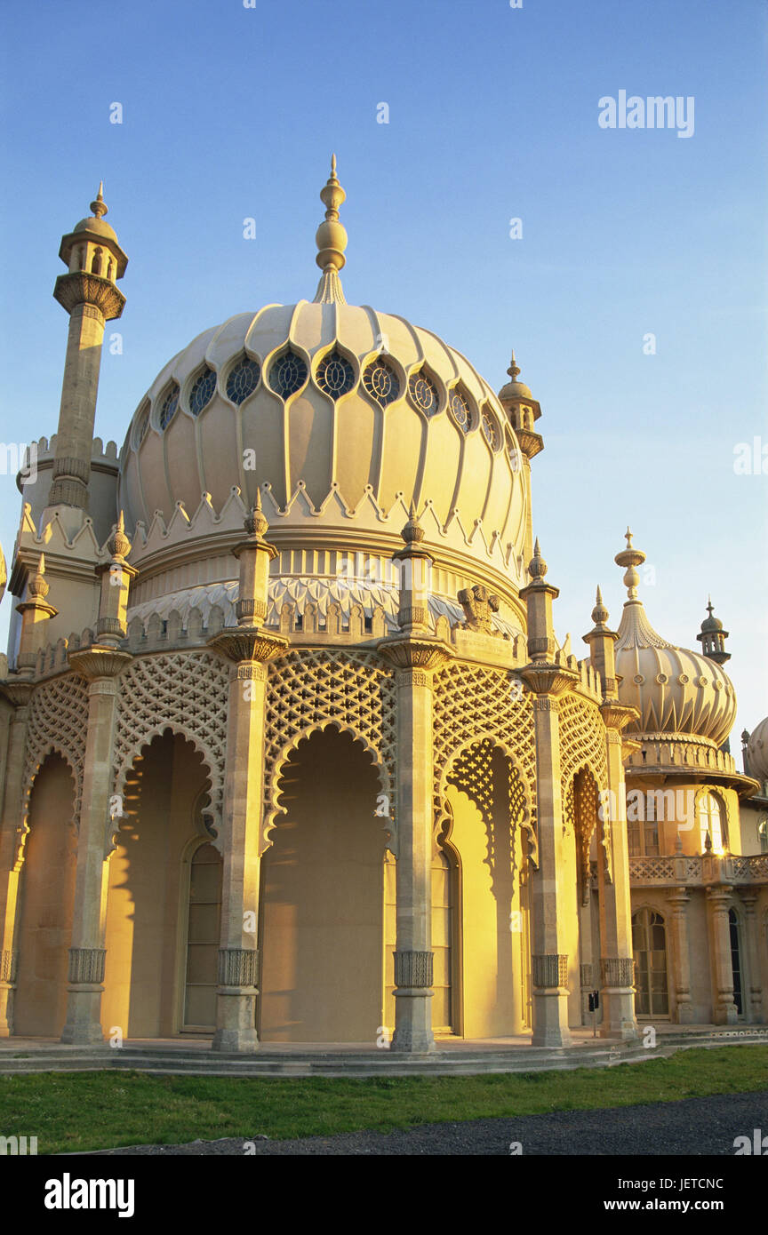 Great Britain, England, Sussex, Brighton, royal Pavilion, evening light, Europe, destination, place of interest, - Stock Image