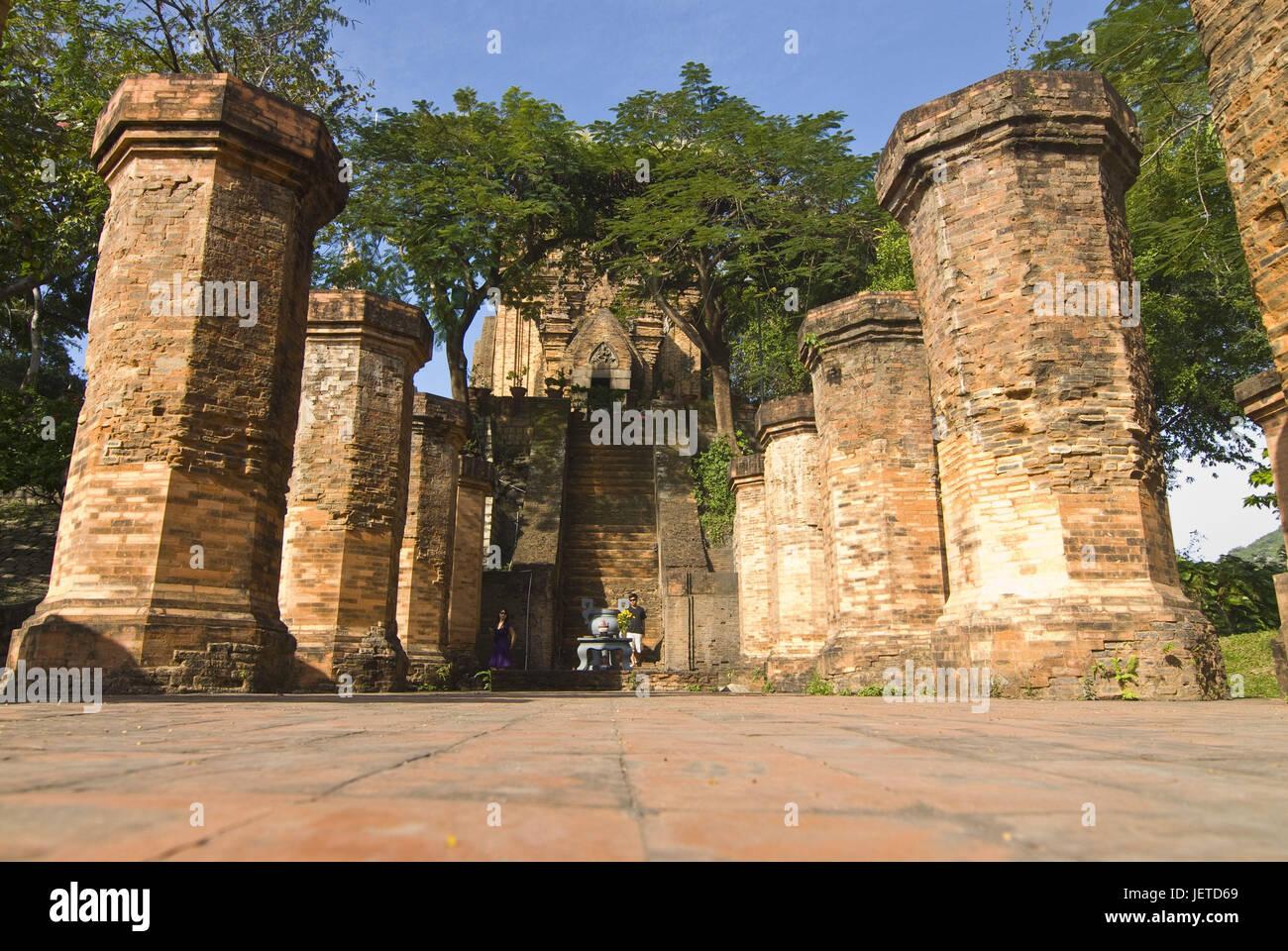 Bottom Nagar Cham towers, Nha Trang, Vietnam, - Stock Image