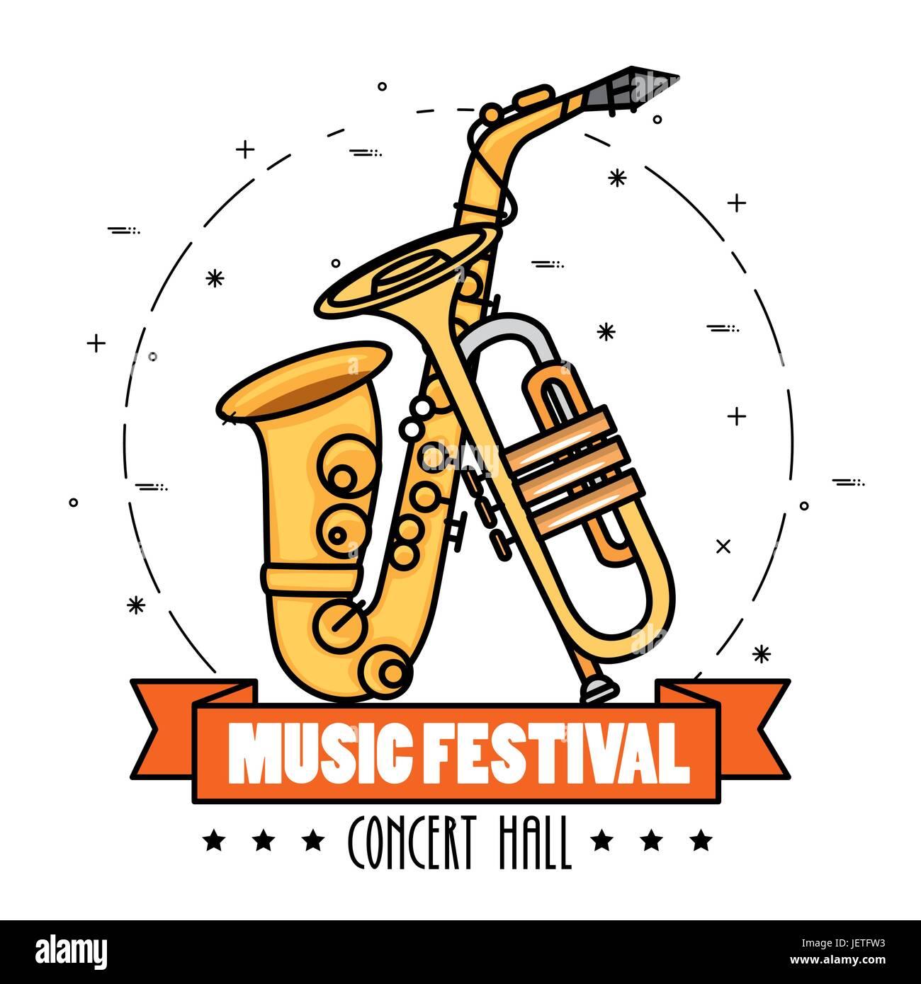 banner music festival live - Stock Image
