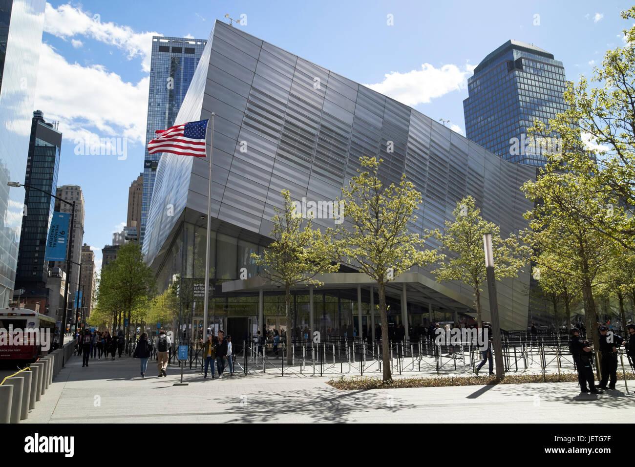 national september 11th memorial museum New York City USA - Stock Image