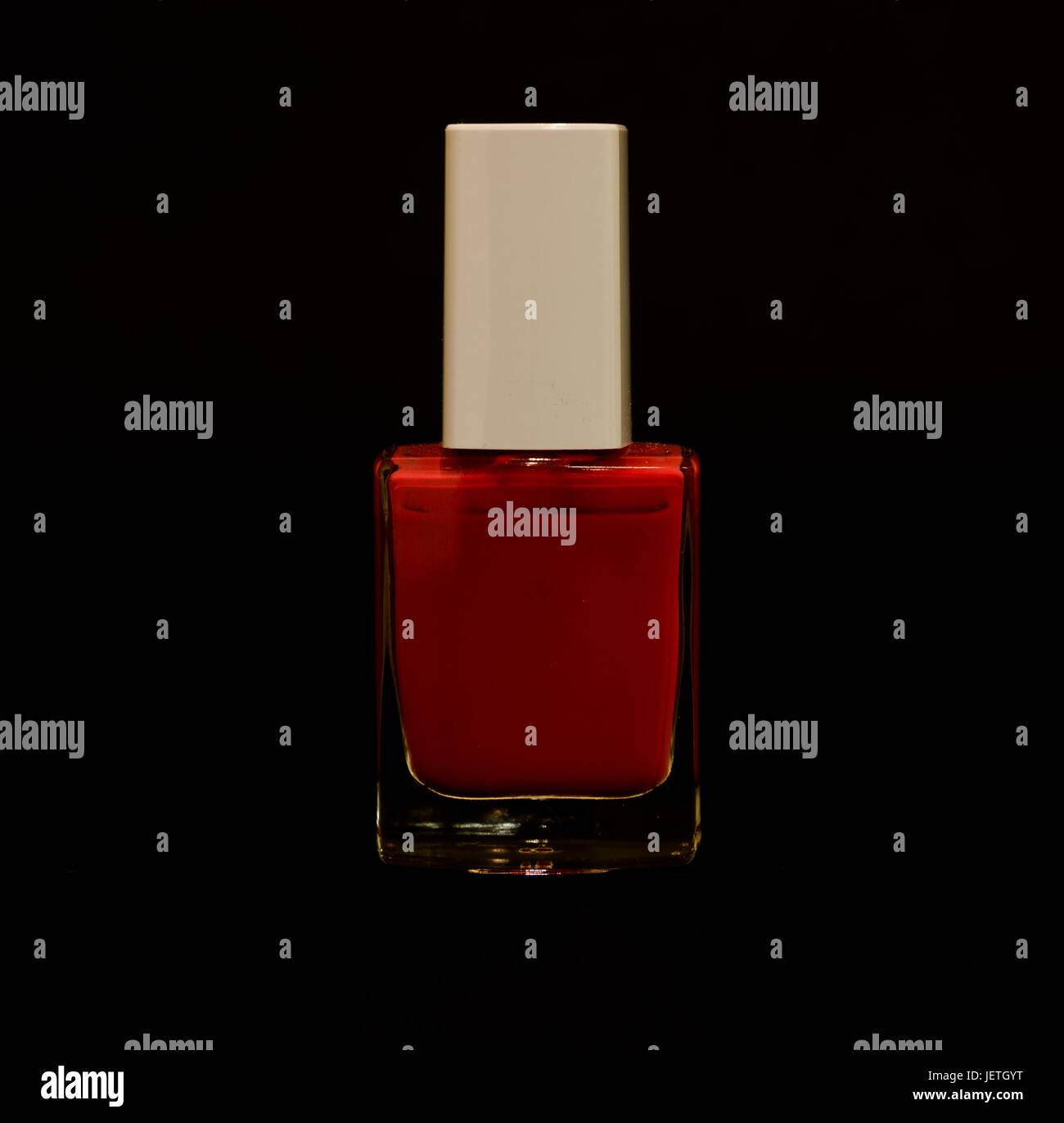 one bottle of generic nail varnish / polish - Stock Image
