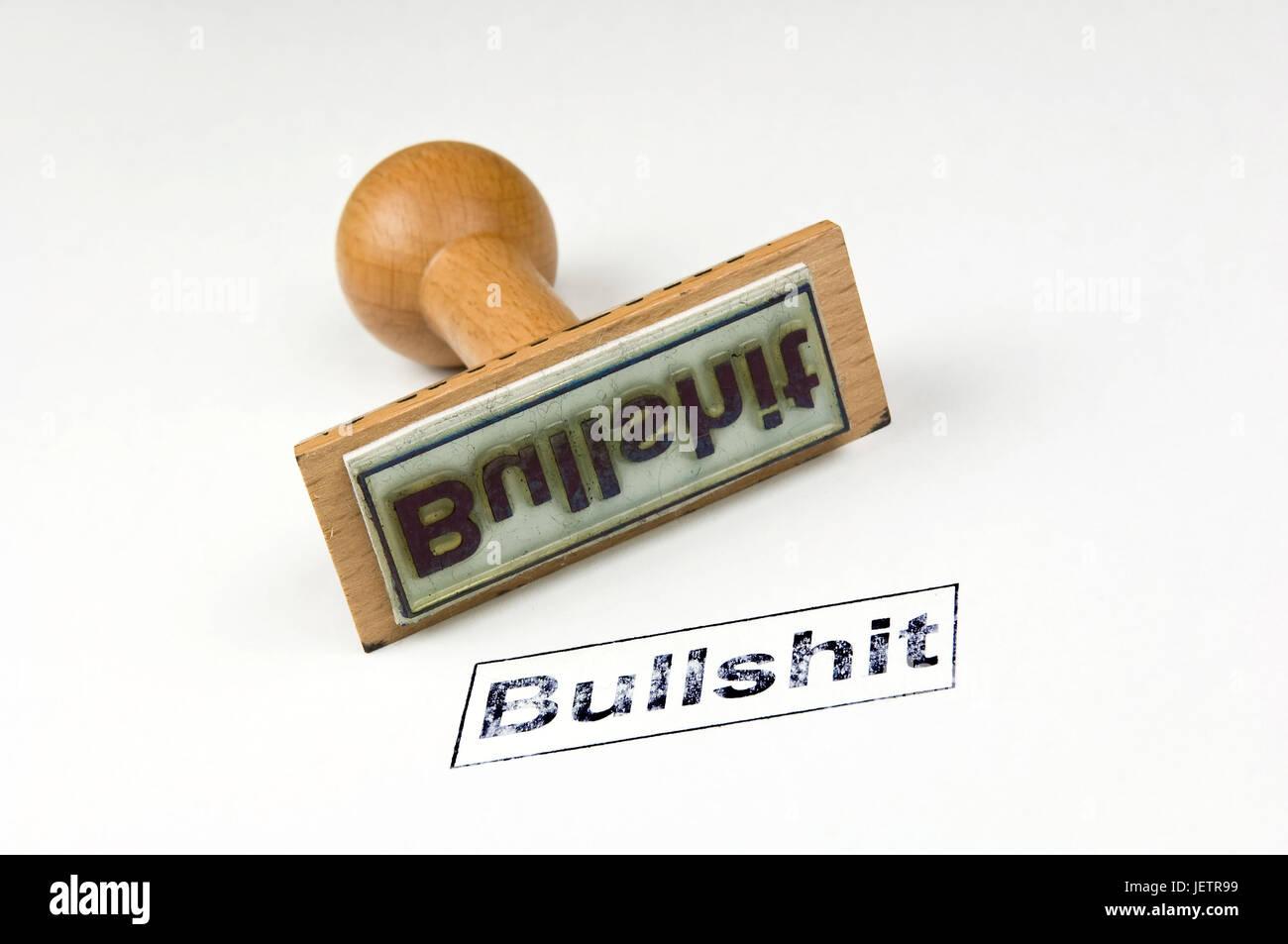 Stamp Bullshit, Stempel Bullshit Stock Photo