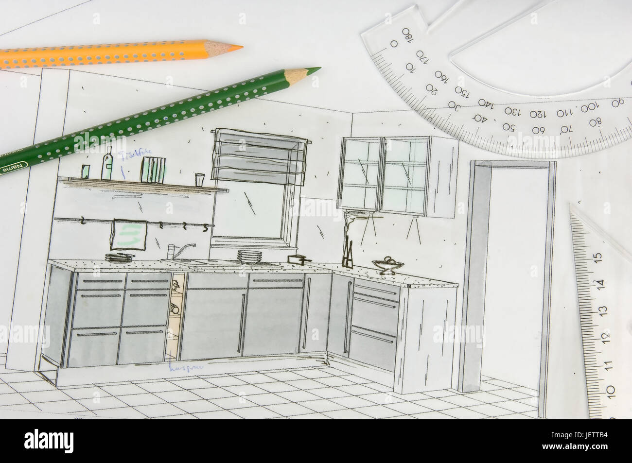 Ansichtsszeichnungen Of A Dimension Kitchen Ansichtsszeichnungen
