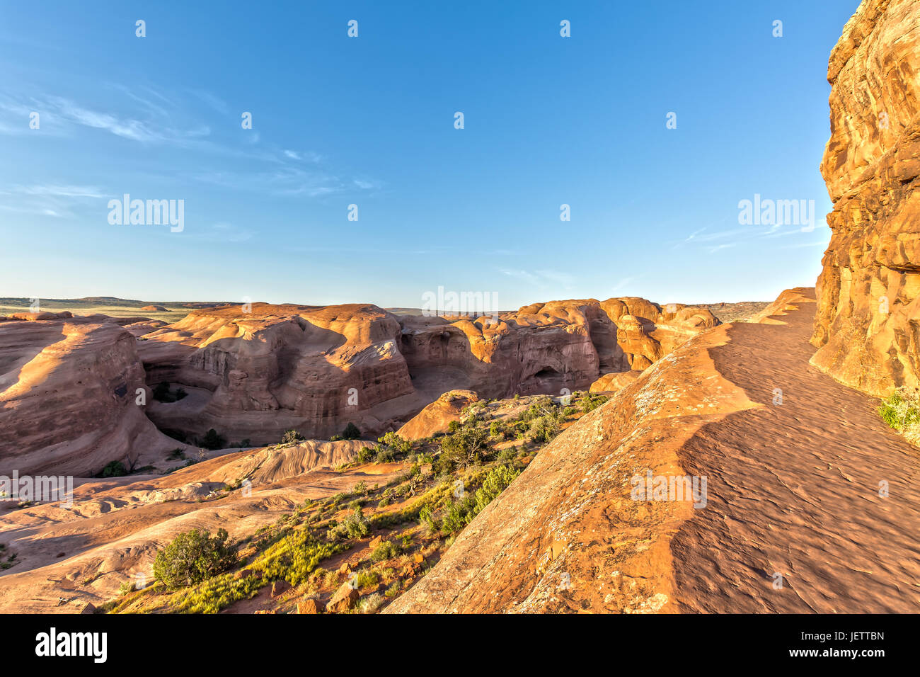 Hiking Trail At To Delicate Arch In Arches National Park In