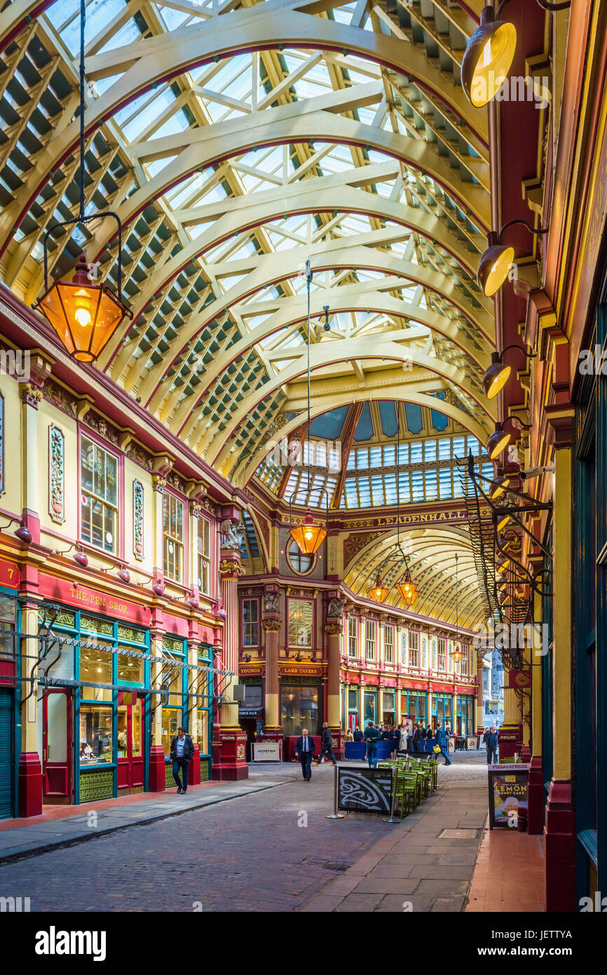 Leadenhall Market, London, UK - Stock Image