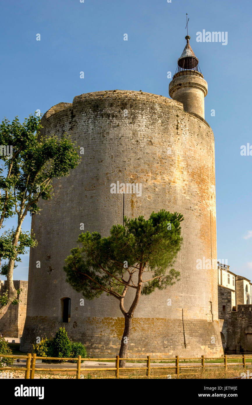 Tower of Constance, Aigues Mortes, Gard, France, Europe - Stock Image