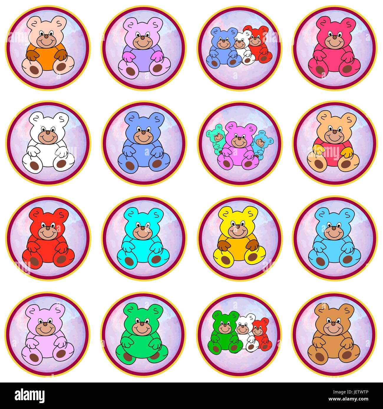 optional, bear, button, toys, teddies, cash, cold cash, money in cash, money, - Stock Image