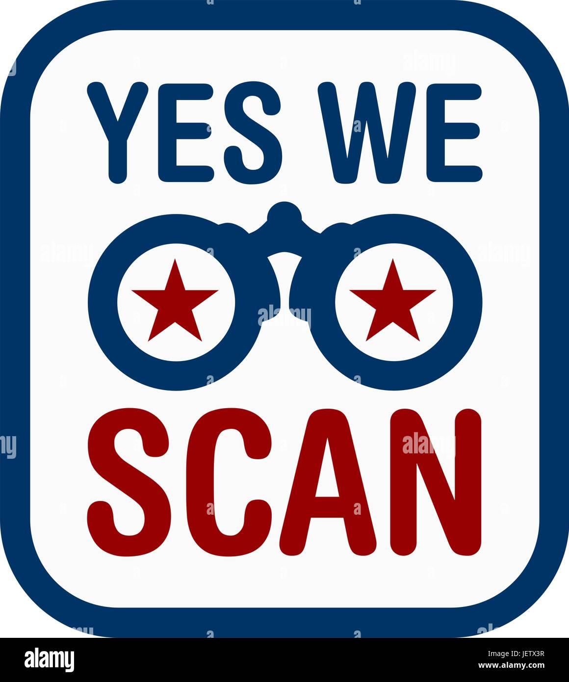 yes we scan - vector - Stock Vector