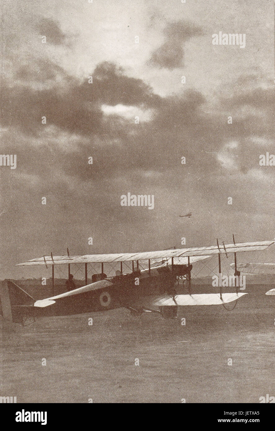 Royal Flying Corps centre, 1916 Stock Photo