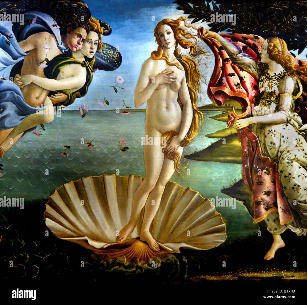 The Birt of Venus 1485 Sandro Botticelli  ( Alessandro di Mariano Filipepi ) 1445-1510 Florence Italian painter Florentine school Early Renaissance. Stock Photo