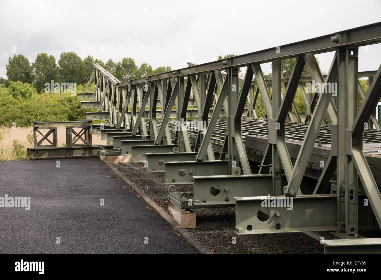 Bailey Bridge, example at Pegusus Memorial Museum, Ranville, Normandy Stock Photo