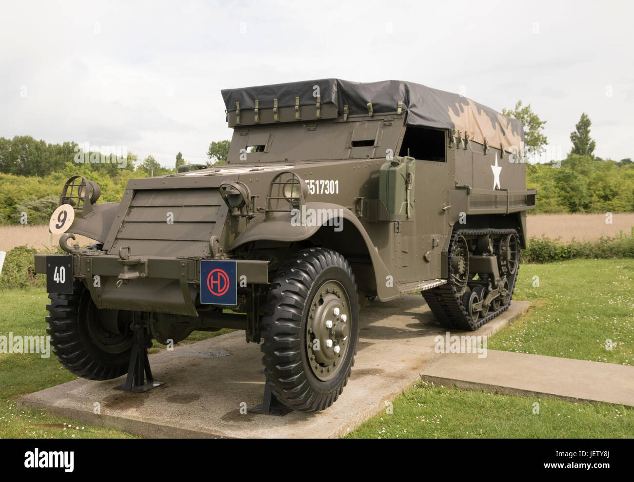 American M3/M5 A1 Half Track reconnaissance and transport vehicle - Stock Image