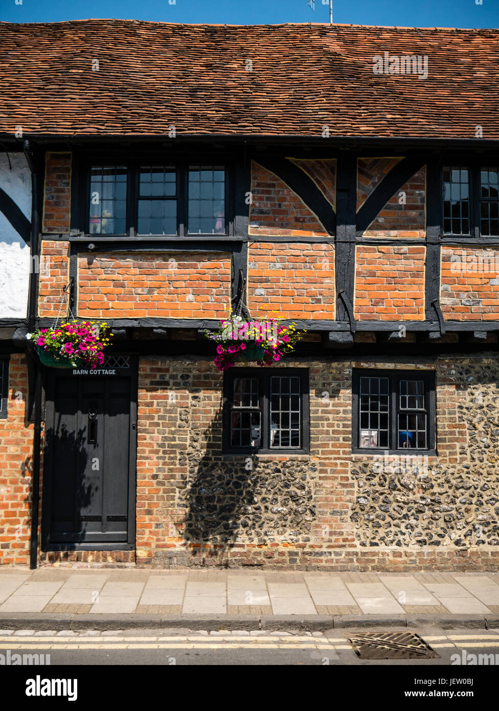 The Barn Cottage, Tudor Building, Henley-on-Thames, England, UK, GB. - Stock Image