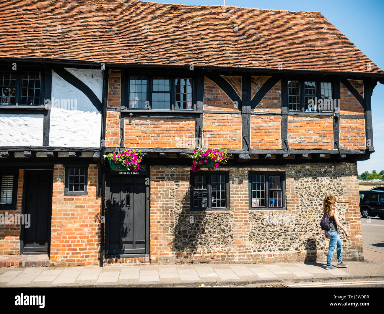 The Barn Cottage, Tudor Building, Henley-on-Thames, England - Stock Image