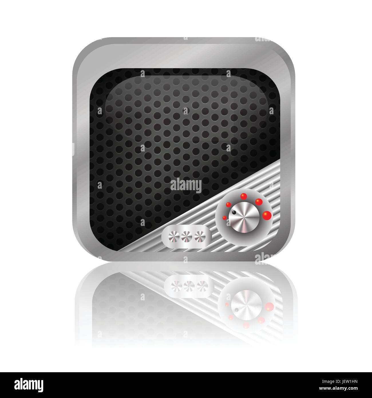 button, level, icon, control, volume, shaddow, shadow, application, sound, - Stock Image