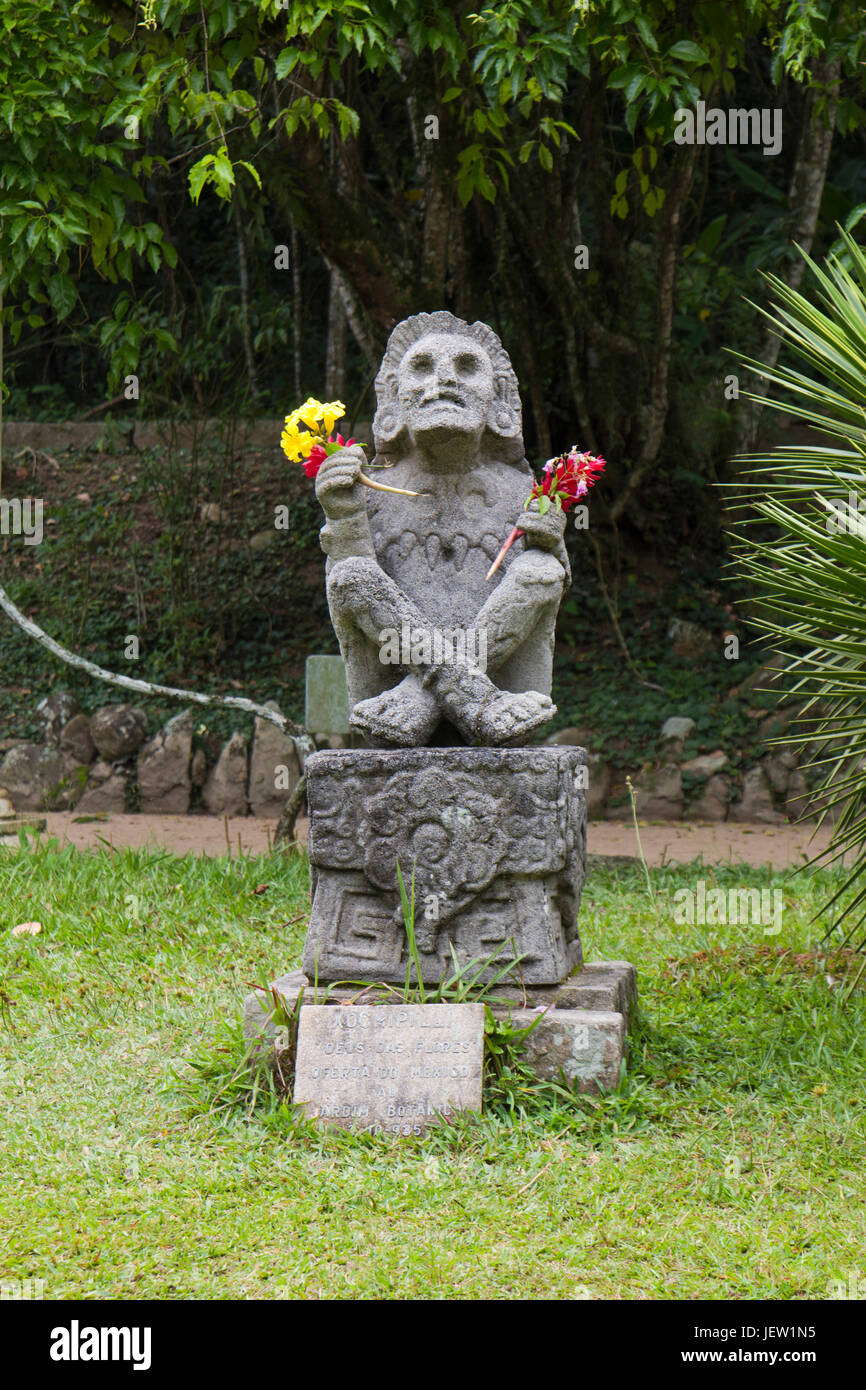 Statue Of Aztec Deity Xochipilli, The God Of Flowers. A Gift Of The  Government