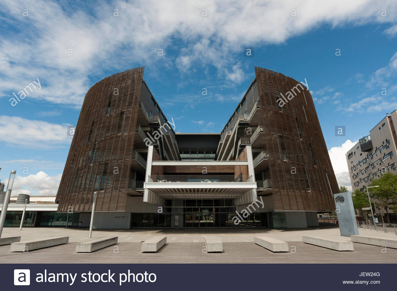 The Biomedical Research Park building. - Stock Image