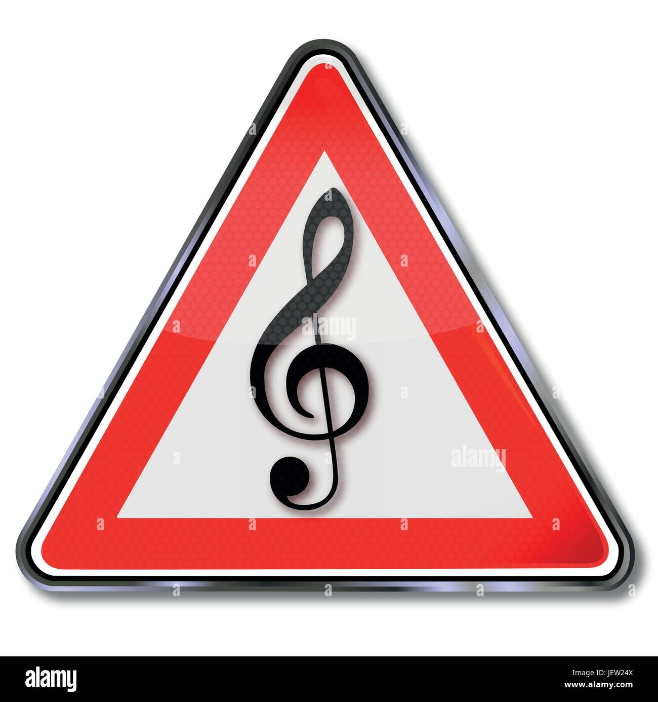 sign with musical note - Stock Image