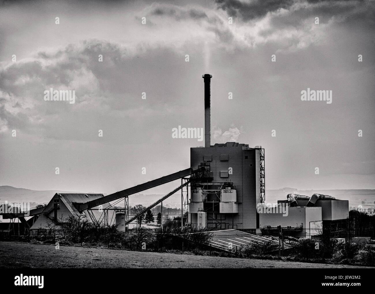 Steven's Croft biomass power station - Stock Image
