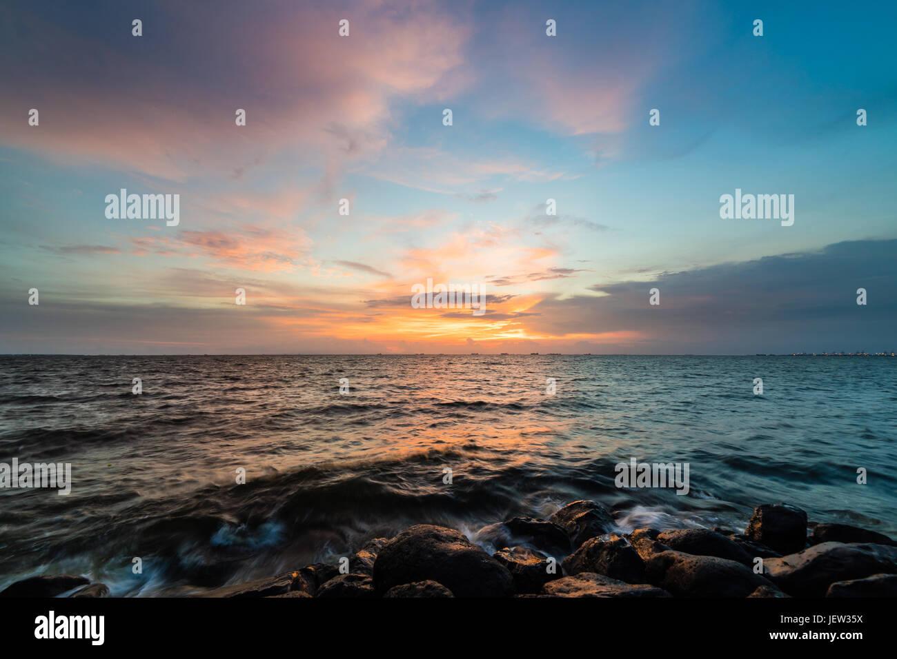 Manila bay sunset - Stock Image
