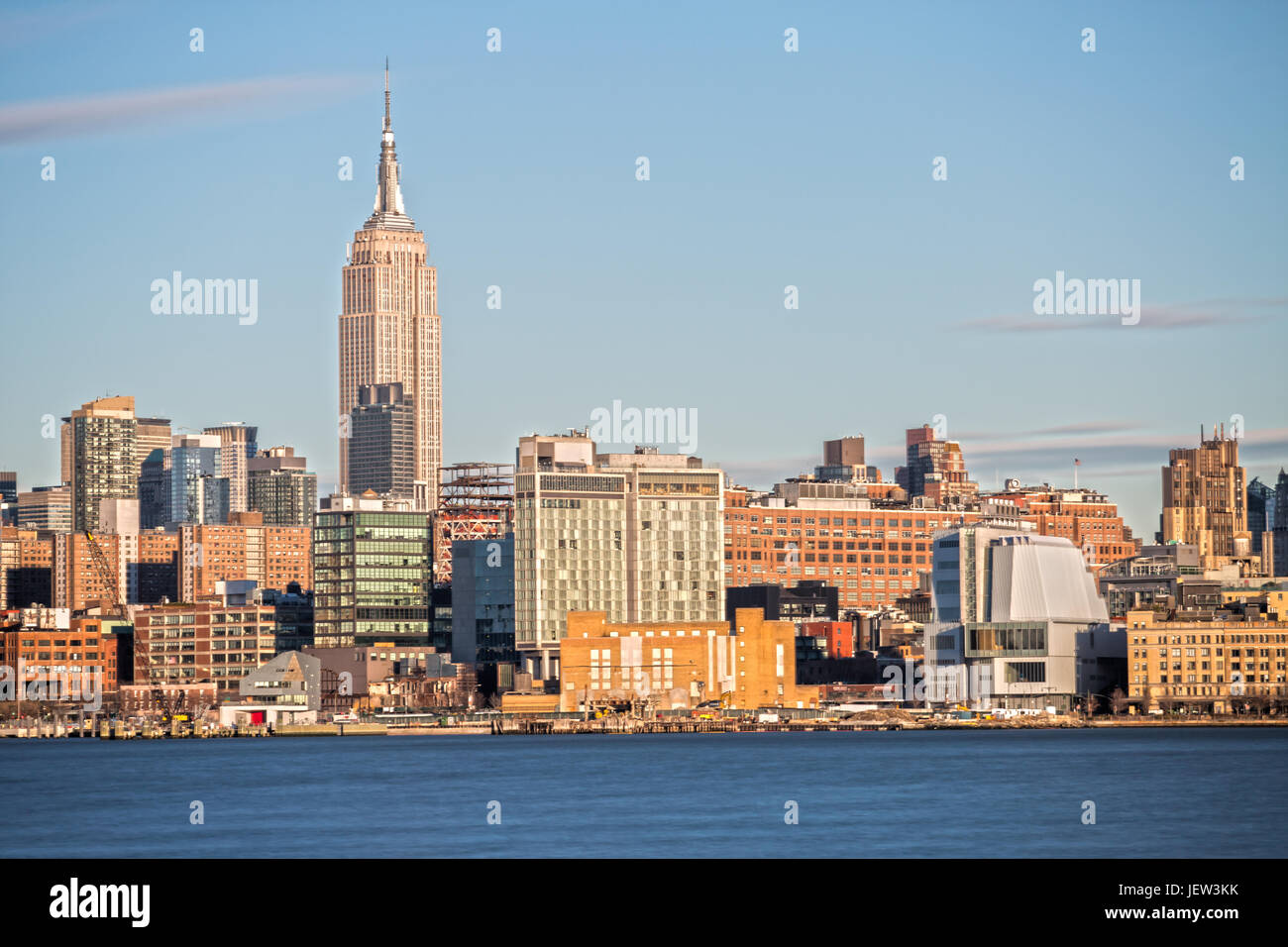 Empire State Building and Midtown Manhattan as seen from Hoboken Stock Photo