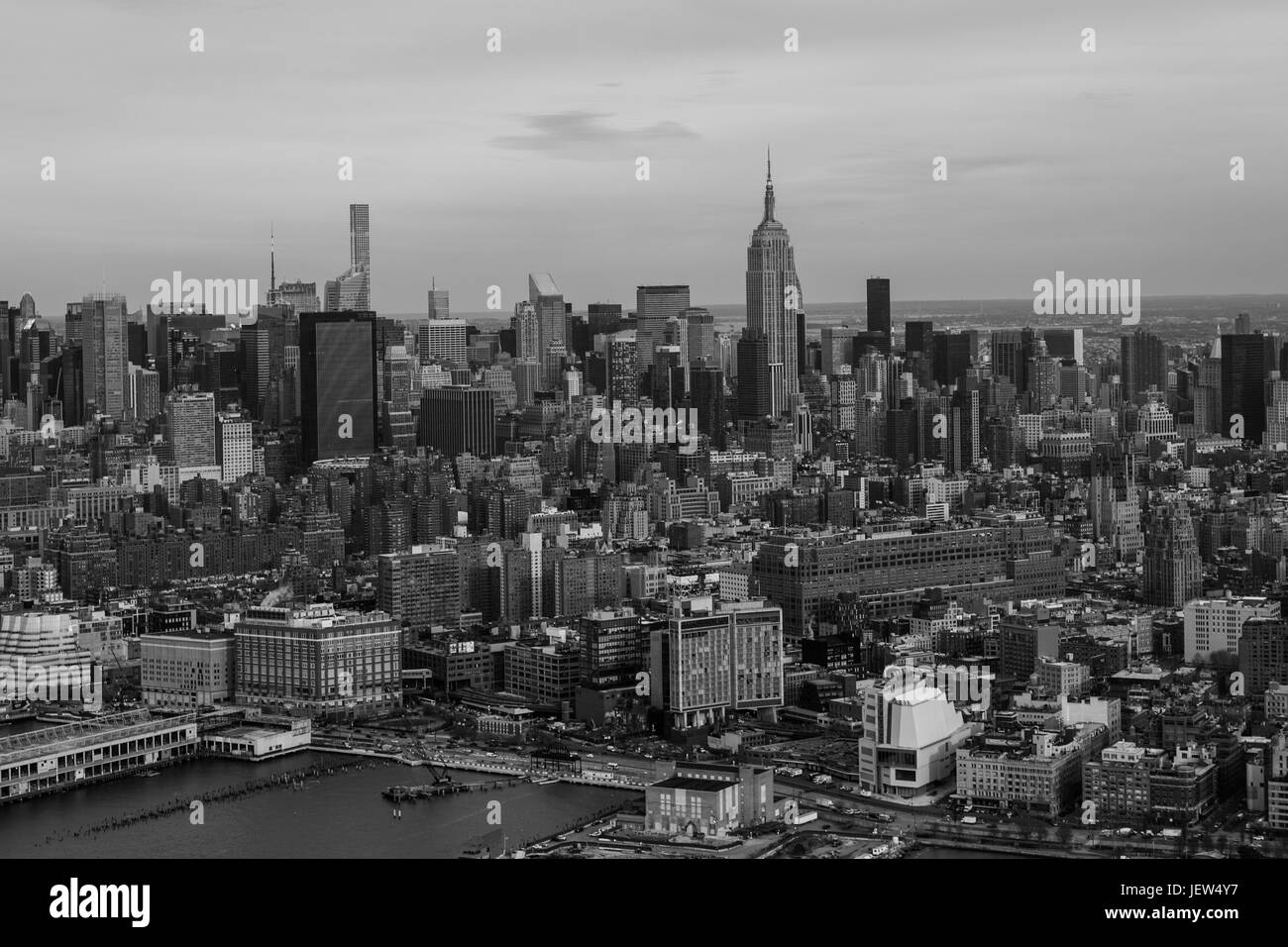 Midtown Manhattan and the Empire State Building Aerial View - Stock Image