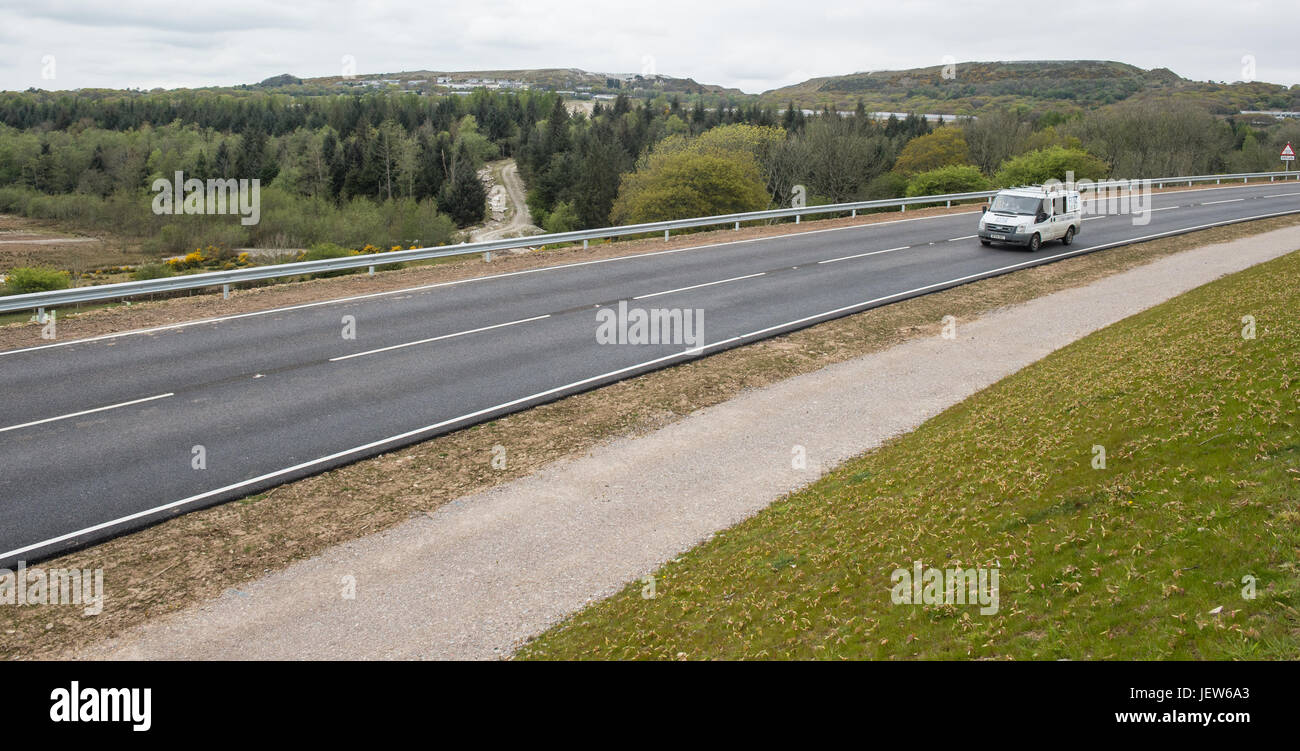 Picture by Paul Slater/PSI - Views of the completed Hemerdon Road, Plymouth, Devon. - Stock Image