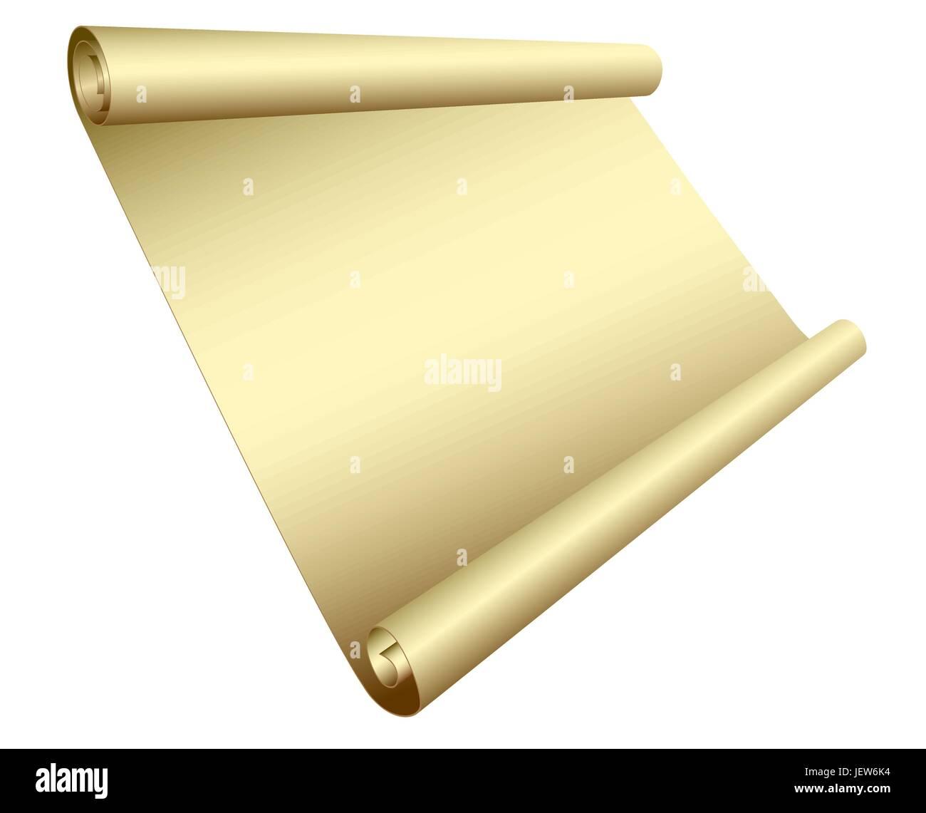 blank, european, caucasian, uninhabited, roll, banner, vector, frame, scroll, - Stock Vector