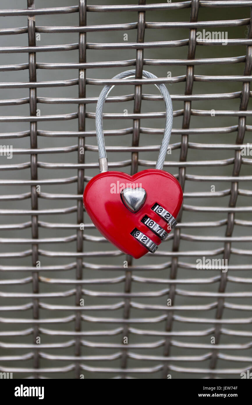 Love Combination Padlock - Stock Image