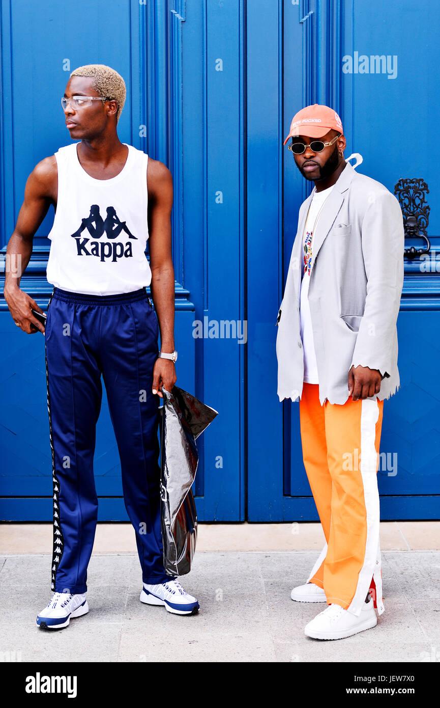 Paris Fashion Week Men 2017 2018 Stock Photos & Paris ...