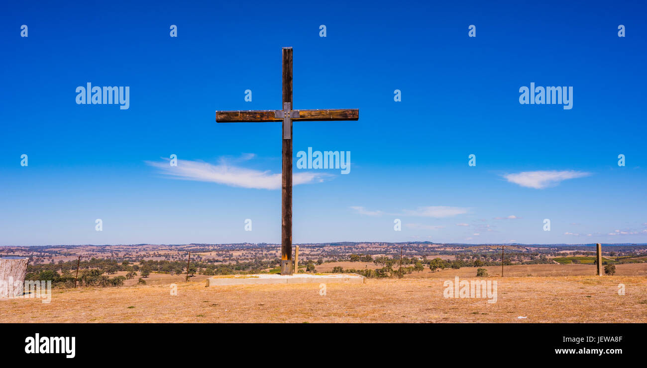View from Eden Valley lookout in South Australia - Stock Image