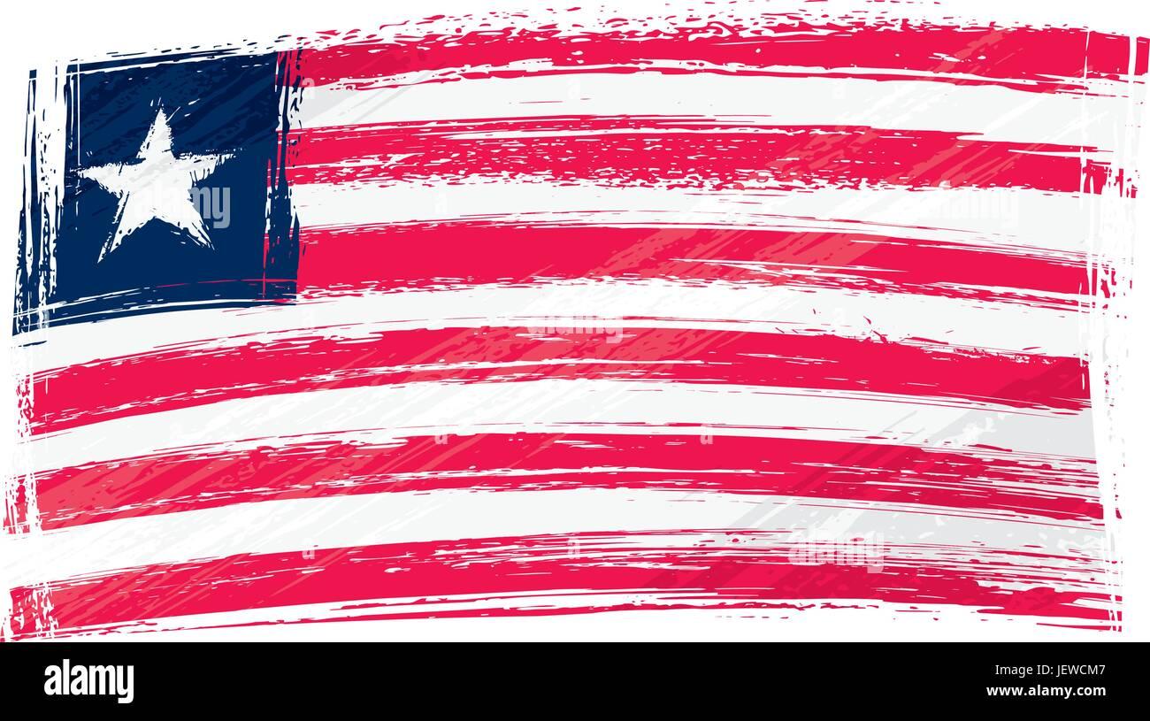isolated, flag, national, country, republic, liberia, pictogram, symbol, - Stock Image