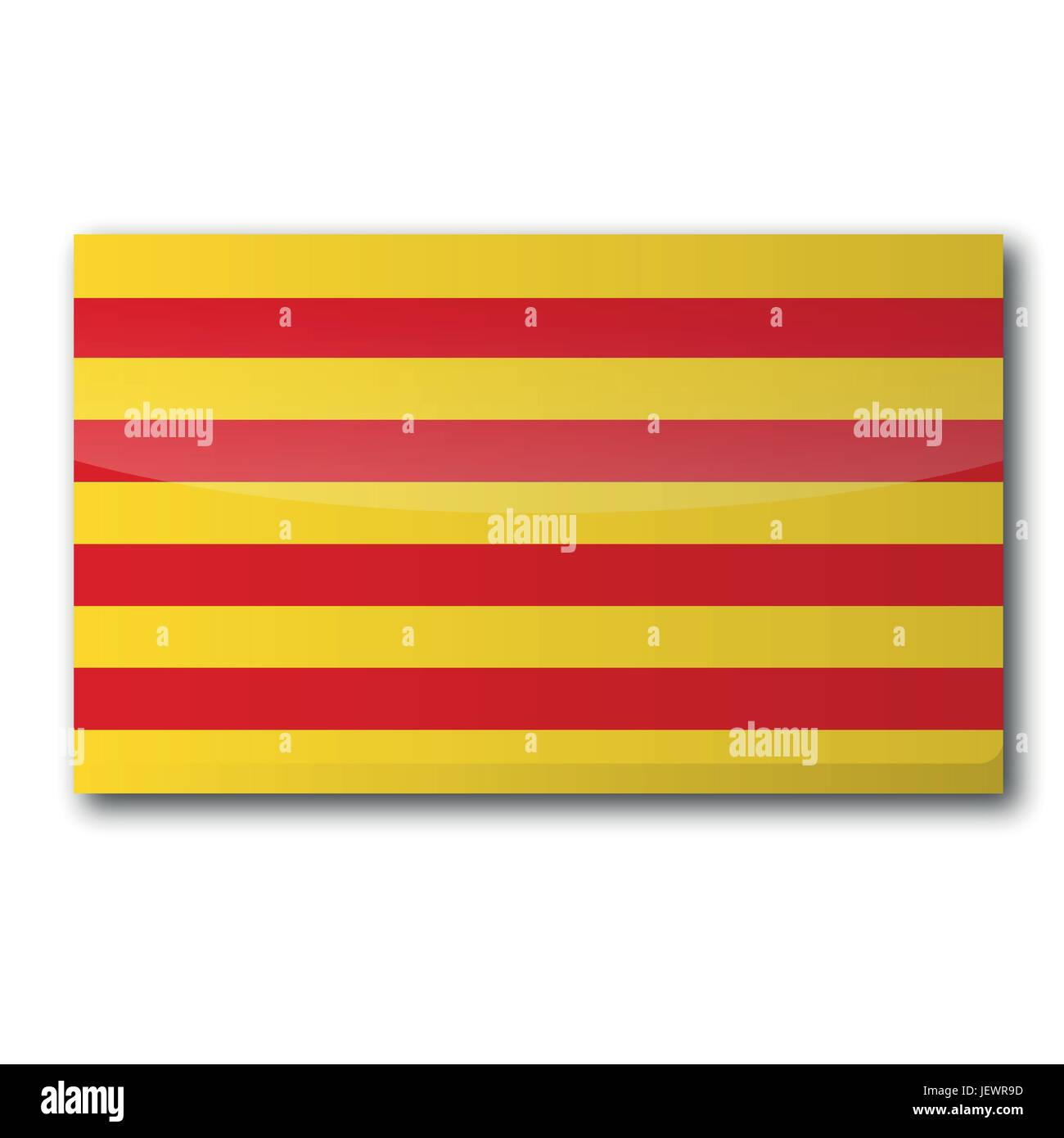flag catalonia - Stock Vector