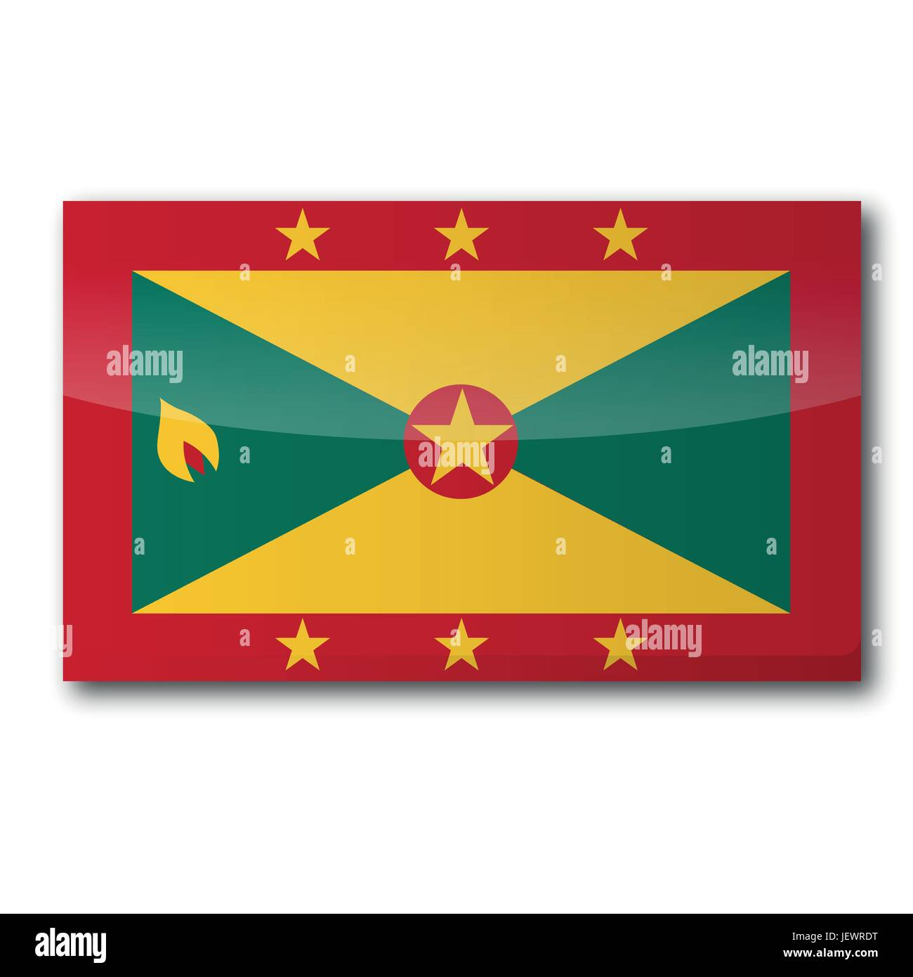flag, grenada, antilles, caribbean, english, isle, island, holiday, vacation, - Stock Vector