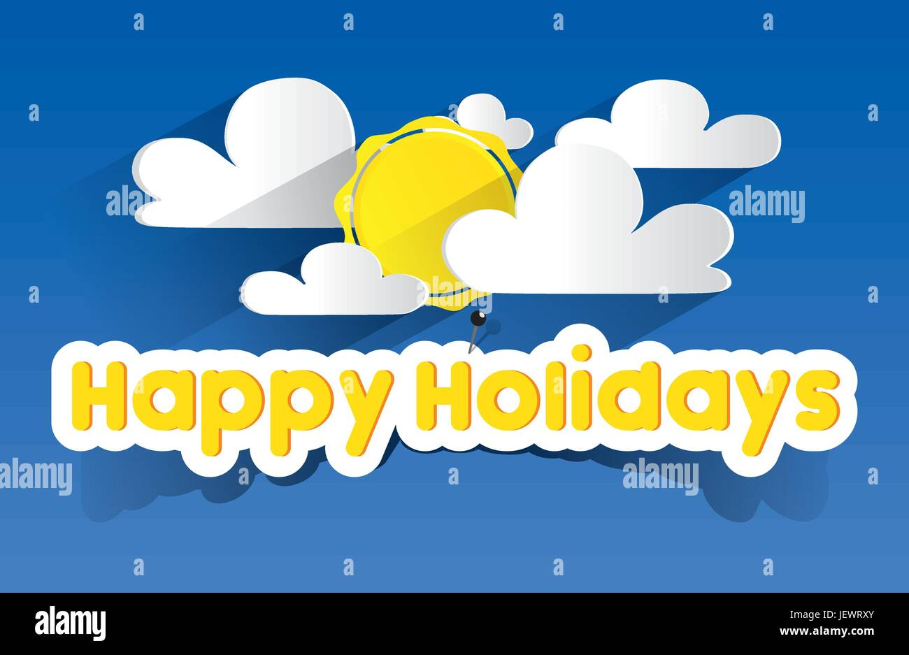 holiday, vacation, holidays, vacations, cloud, summer, summerly, delighted, Stock Vector