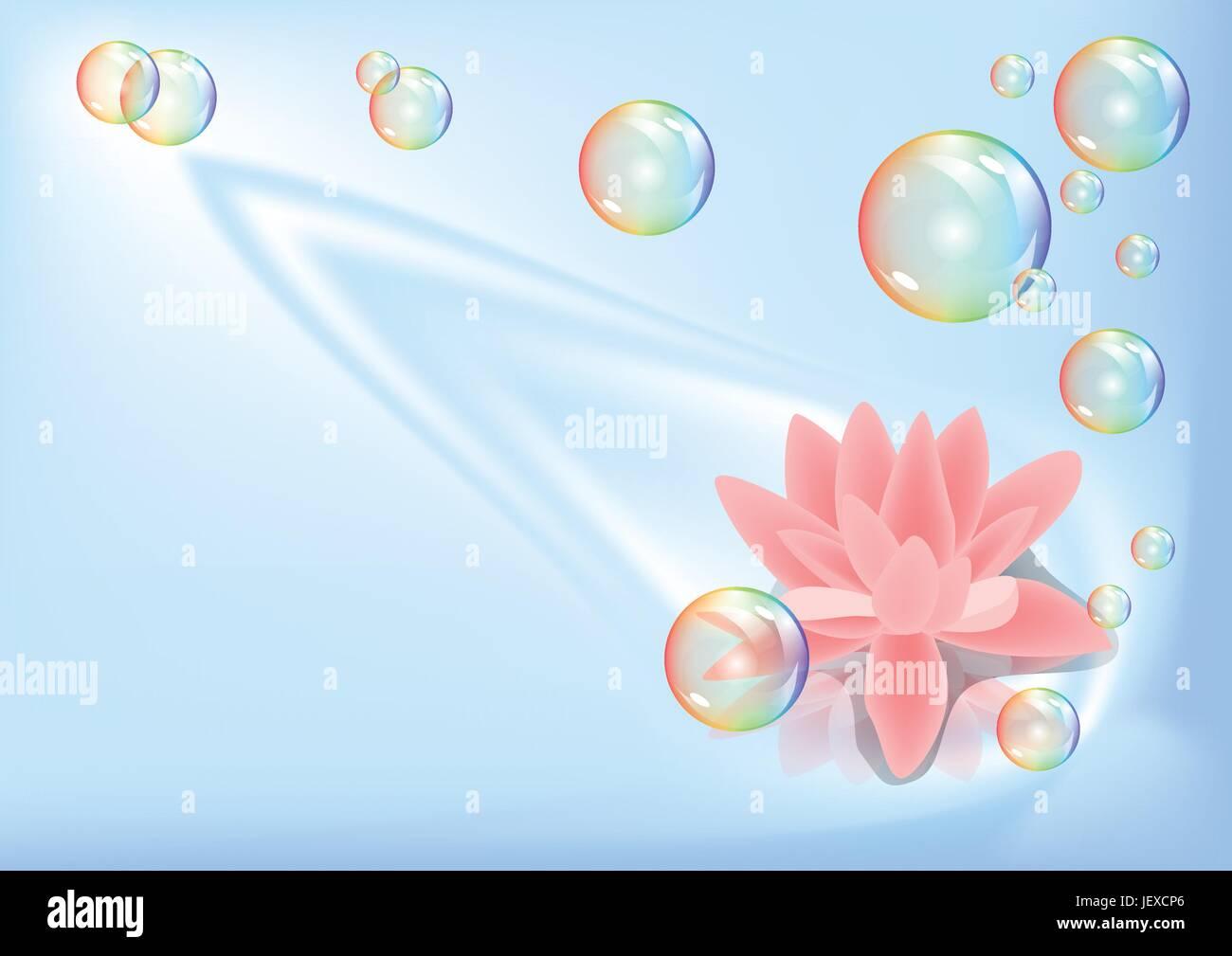 single, flower, plant, bloom, blossom, flourish, flourishing, lily, summer, - Stock Vector