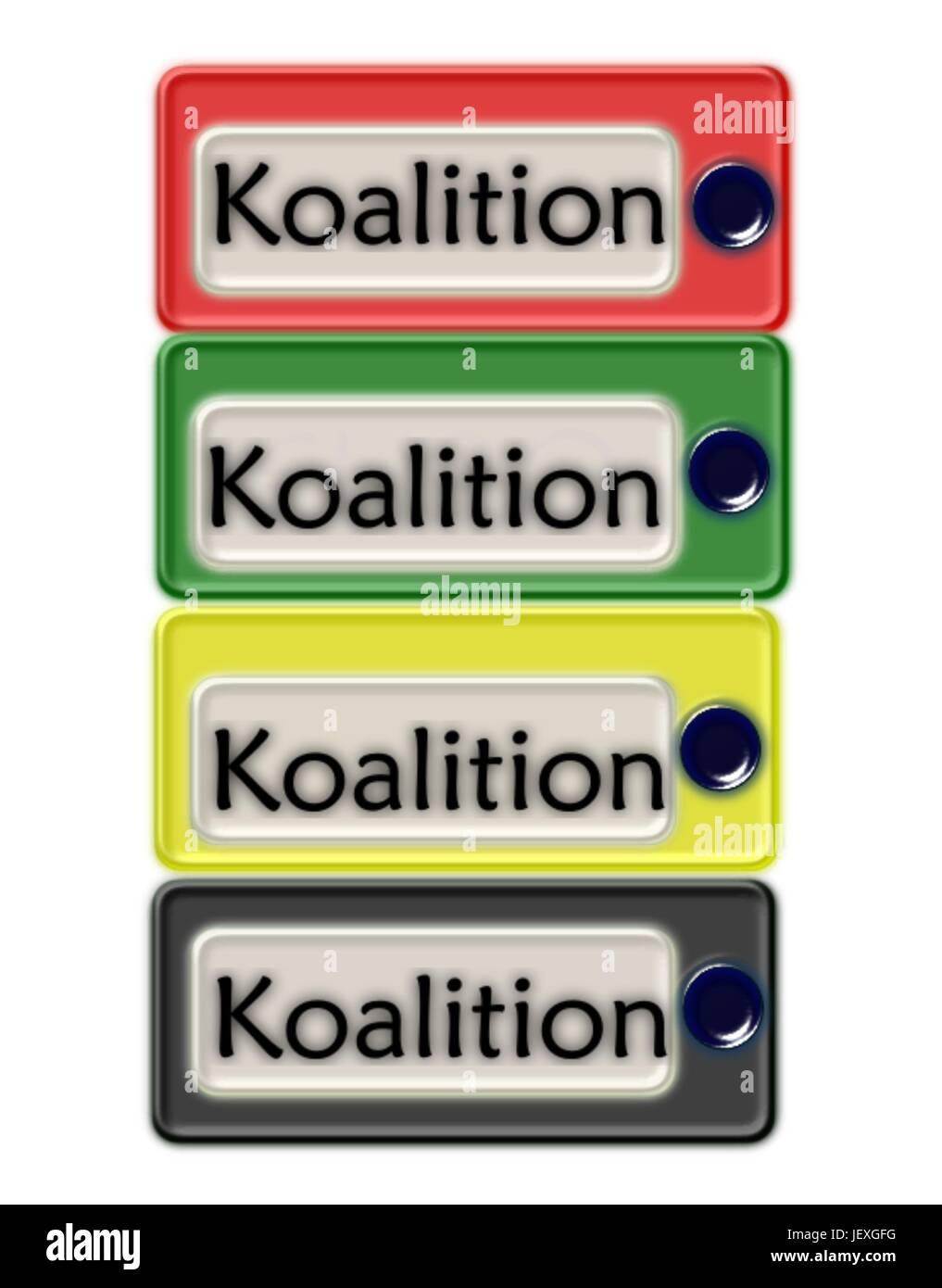 coalition talks - Stock Vector