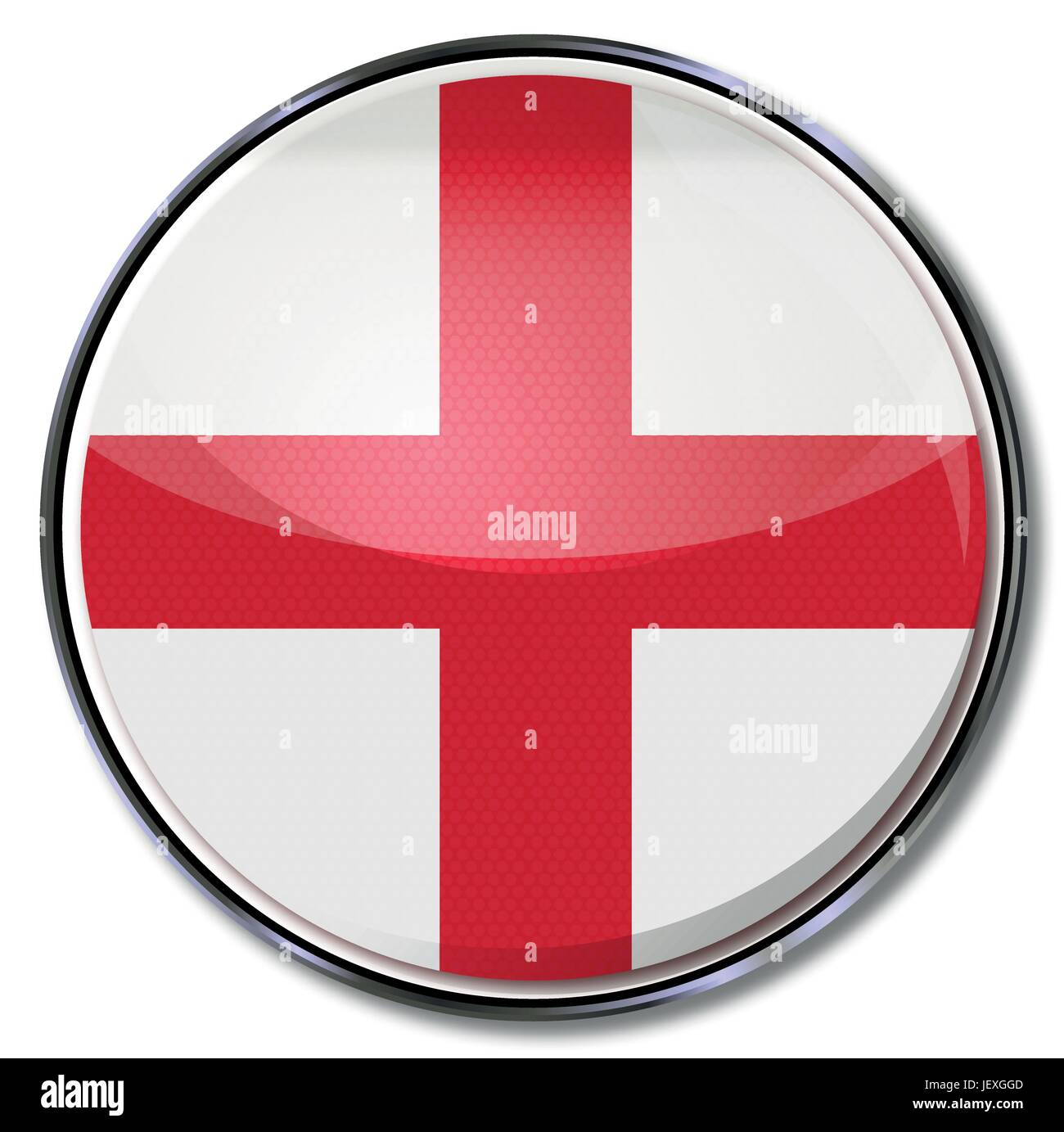 cross, england, flag, button, kingdom, unites, britain, cross, europe, angle, - Stock Image