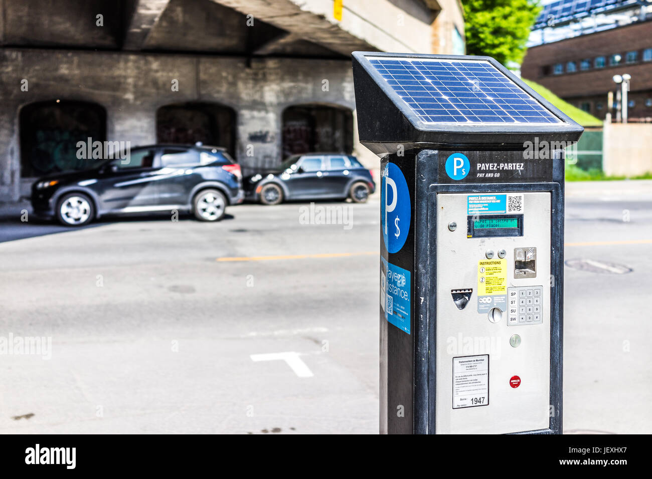 Car Parking System Stock Photos Images Ford Cmax Solar Energi Concept Using The Sun To Charge Electric Montreal Canada May 28 2017 Paid Street In Downtown City
