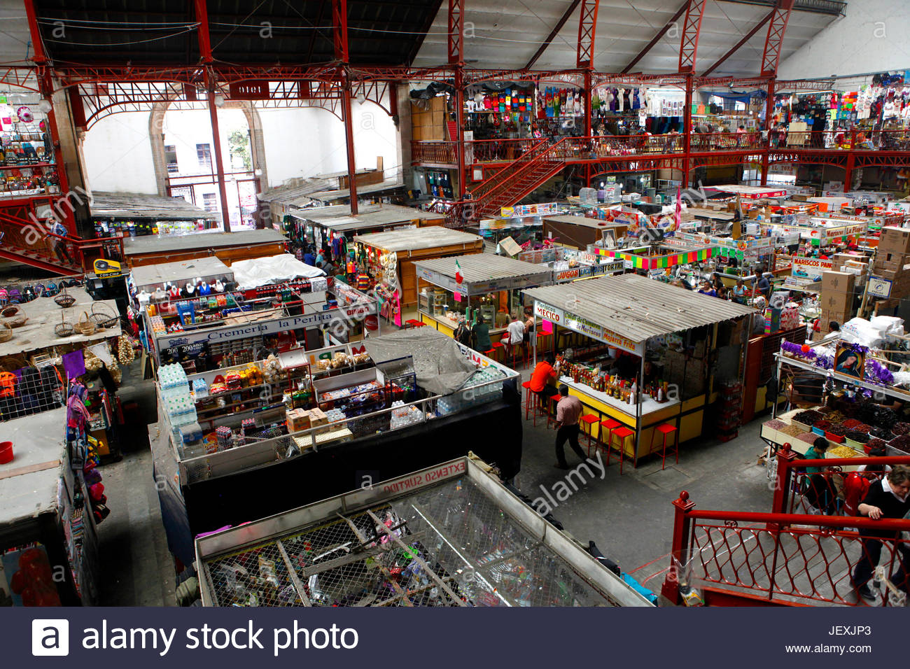 Hidalgo Market, a great place to buy local souvenirs in Guanajuato. - Stock Image