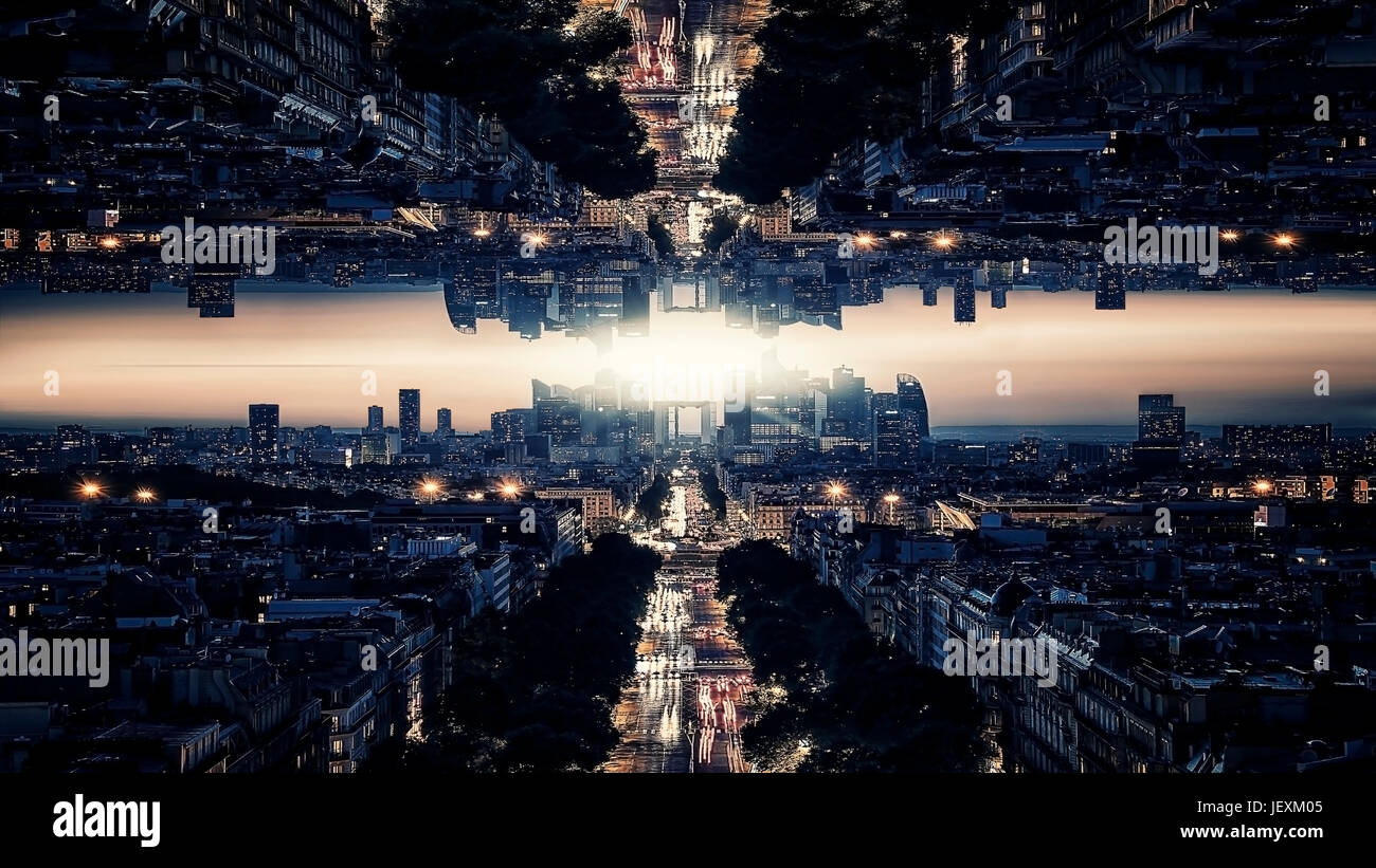 Parallel universe science theory - Stock Image