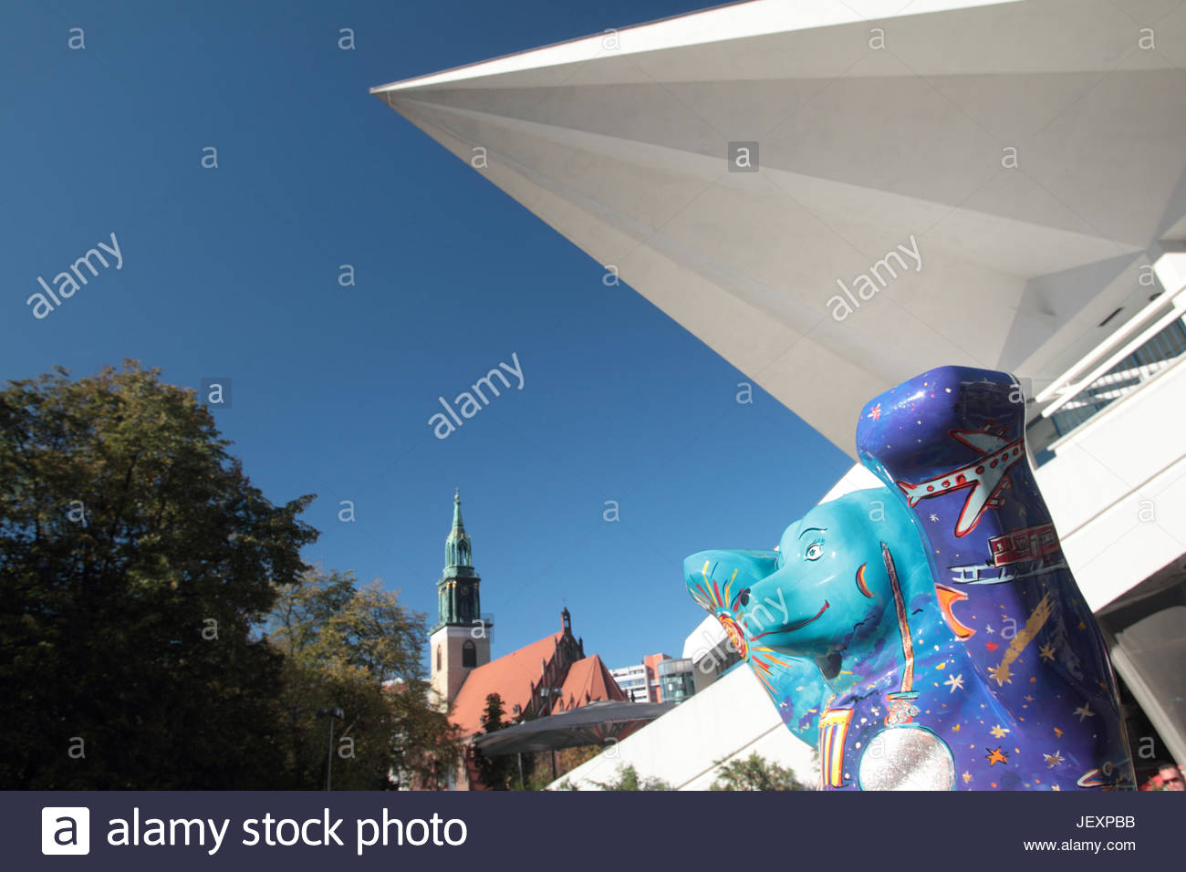 The story of the Buddy Bears started with an artistic event in Berlin in 2001. Inspired by the cow parade in Zurich Stock Photo