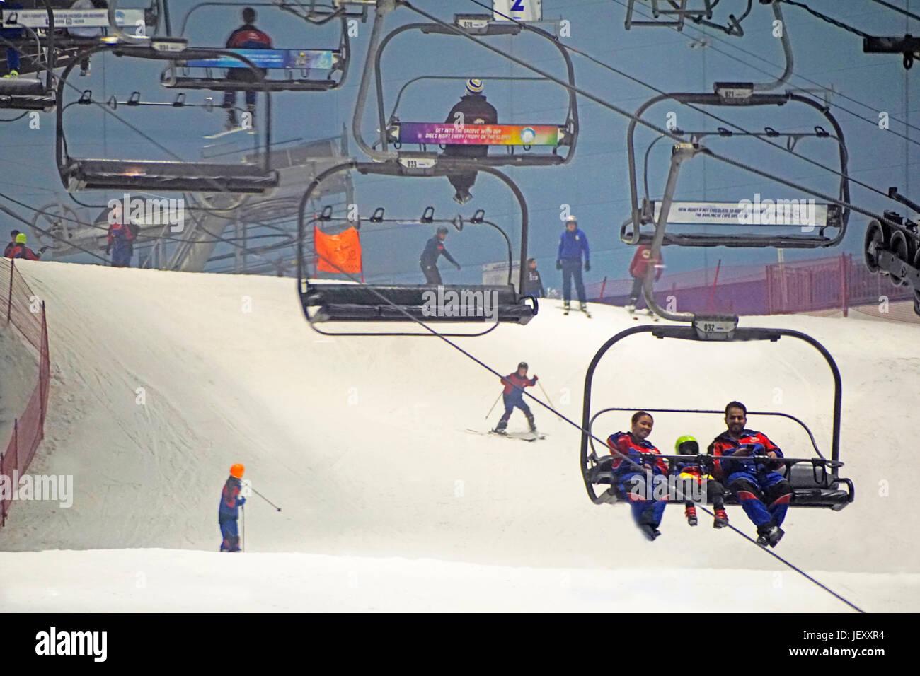 Ski Dubai at Mall of the Emirates - Stock Image