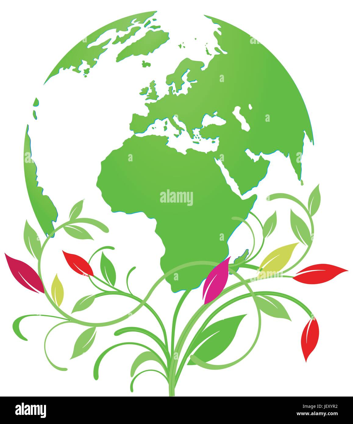 travel, health, environment, enviroment, science, green, asia, tourism, africa, - Stock Vector