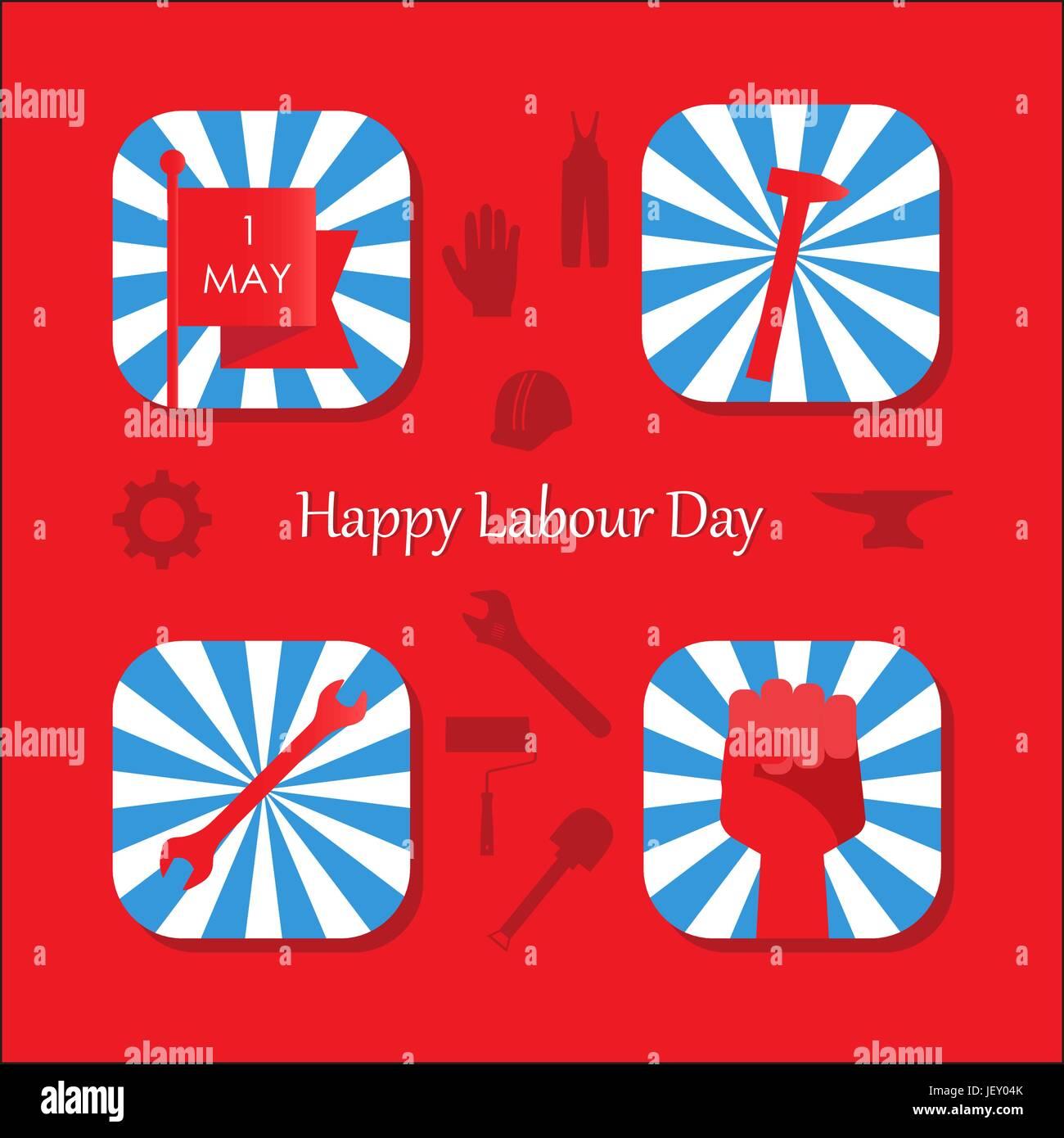 May 1 International Labor Day - Stock Vector