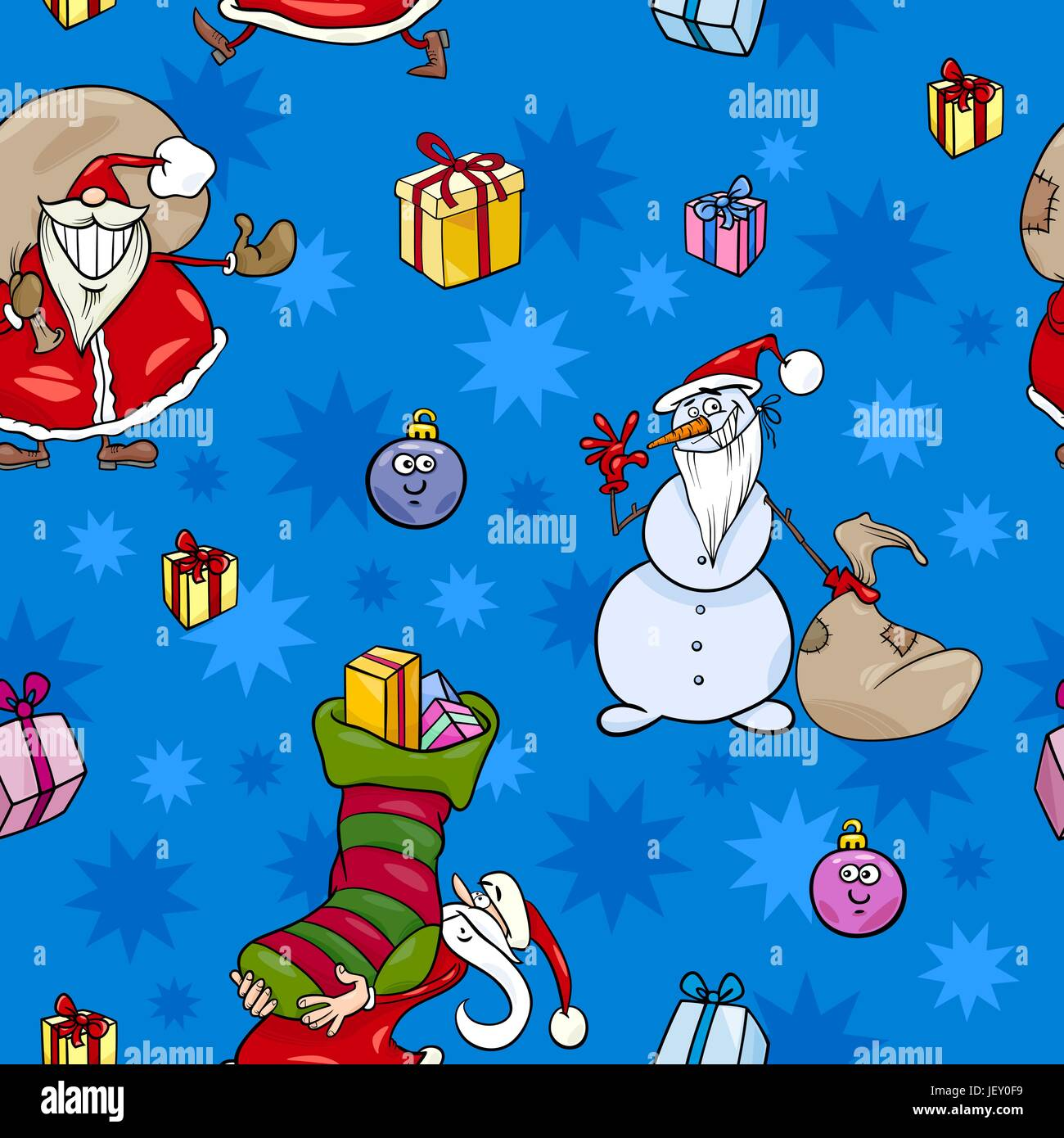 Illustration Christmas Wallpaper Pattern Seamless
