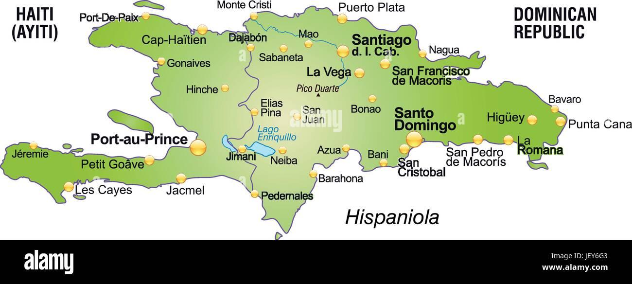 Haiti Karte.Overview Haiti Map Atlas Map Of The World Hispaniola Stock
