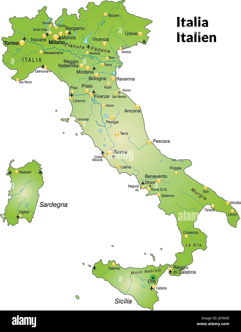 Map Of Italiy Stock Photos Map Of Italiy Stock Images Alamy